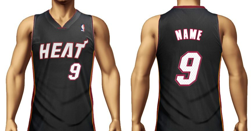 Miami Heat jersey with the name name and number 9