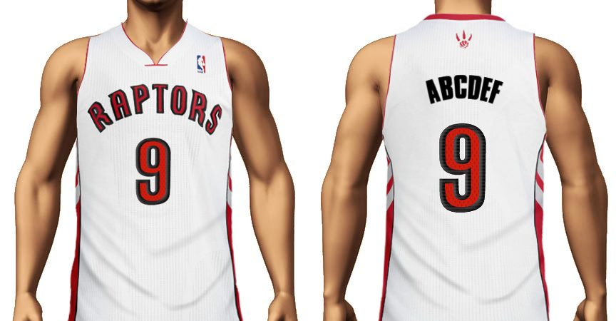 Create Toronto Raptors jersey with your name and number.
